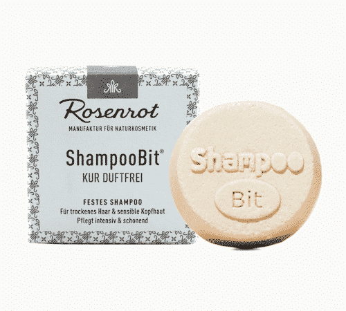Festes Shampoo Kur duftfrei - ShampooBit - Rosenrot 55 g