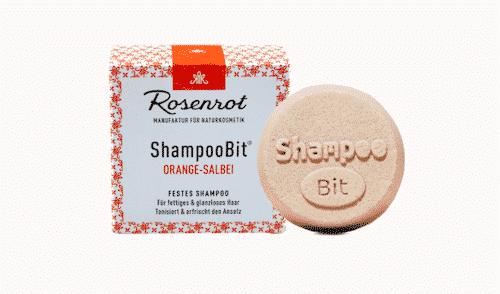Festes Shampoo Orange-Salbei - ShampooBit - Rosenrot 55 g