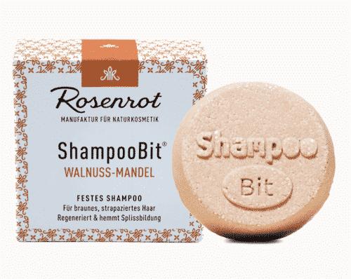 Festes Shampoo Walnuss-Mandel - ShampooBit - Rosenrot 55 g