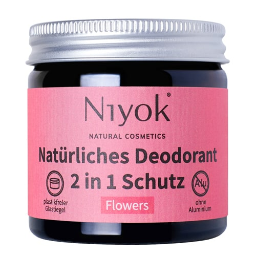 Flowers - 2 in 1 anti-transpirante Deocreme - Niyok 40 ml