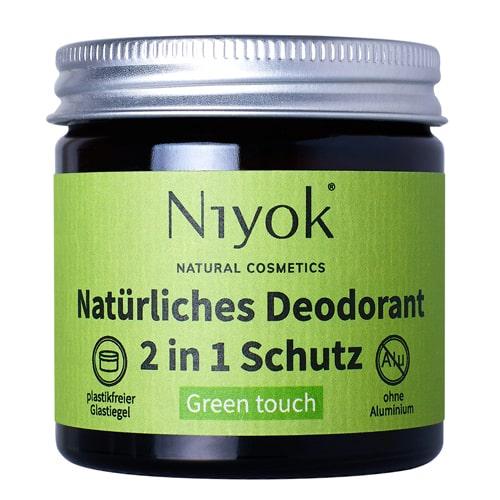 Green touch - 2 in 1 anti-transpirante Deocreme - Niyok 40 ml