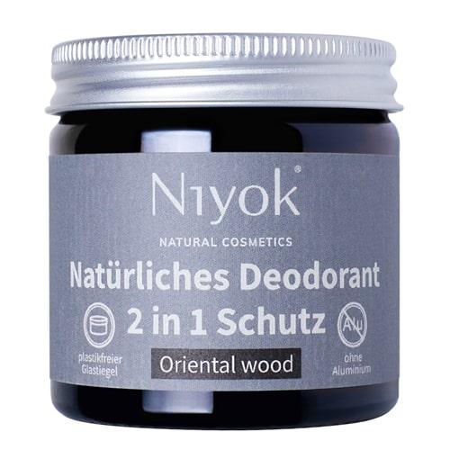 Oriental wood - 2 in 1 anti-transpirante Deocreme - Niyok 40 ml