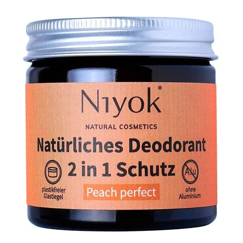 Peach perfect - 2 in 1 anti-transpirante Deocreme - Niyok 40 ml