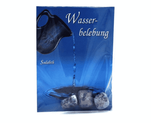 Trommelstein zur Wasserbelebung - Sodalith