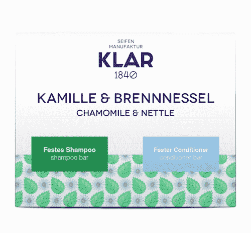 2er Set - Kamille und Brennnessel - Festes Shampoo und Conditioner - Klar 2 x 100 g