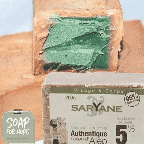 Aleppo Seife - 5% Lorbeeröl und 95% Olivenöl -1