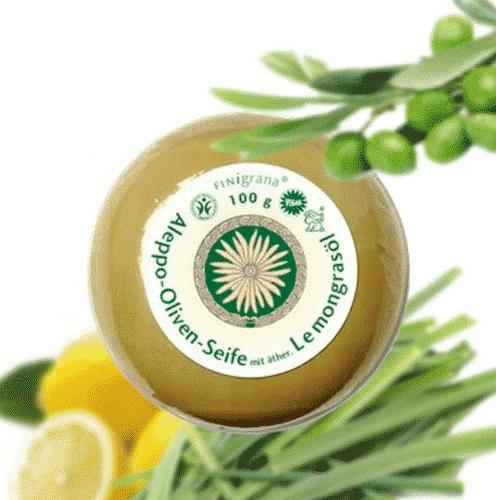 Aleppo Seife Lemongrass - Duftseife - Pearl & Finigrana 100 g