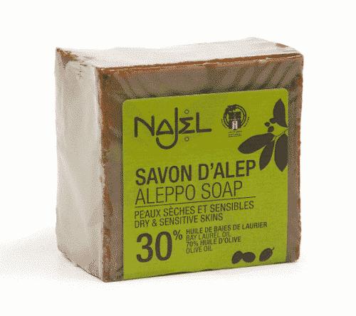 Aleppo Seife mit 30% Lorbeeröl - Najel 200 g