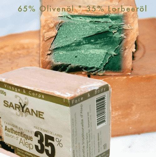 Aleppo Seife mit 35% Lorbeeröl und 65% Olivenöl - Olivinus 200 g