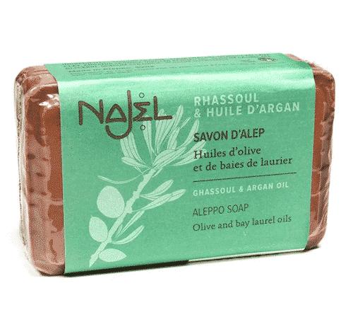 Aleppo Seife mit Arganöl und Lavaerde - Najel 100 g