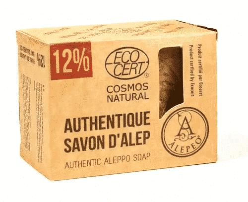 Aleppo Seife mit Olivenöl und 12% Lorbeeröl - Alepeo 200 g