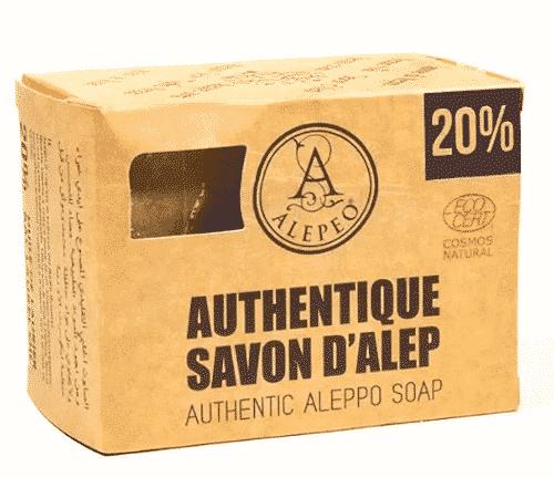Aleppo Seife mit Olivenöl und 20% Lorbeeröl - Alepeo 190 g