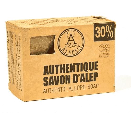 Aleppo Seife mit Olivenöl und 30% Lorbeeröl - Alepeo 300 g