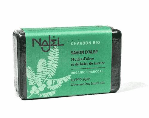 Aleppo Seife mit biologischer Holzkohle - Najel 100 g