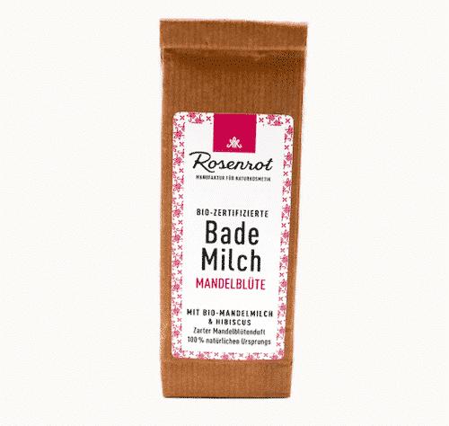 Bademilch Mandelöl - Rosenrot 150 g