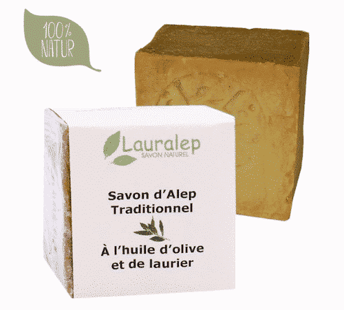 Bio Aleppo Seife - 1% Lorbeeröl und 99% Olivenöl - Lauralep 200 g