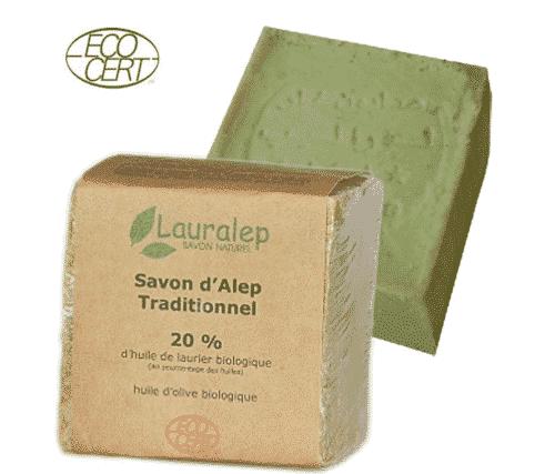 Bio Aleppo Seife mit 20% Lorbeeröl und 80% Olivenöl