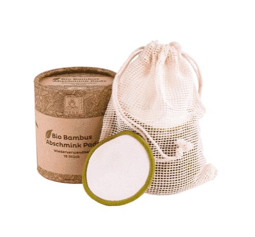 Bio Bambus Abschmink Pads inkl. Waschbeutel - Berk 16 Stück