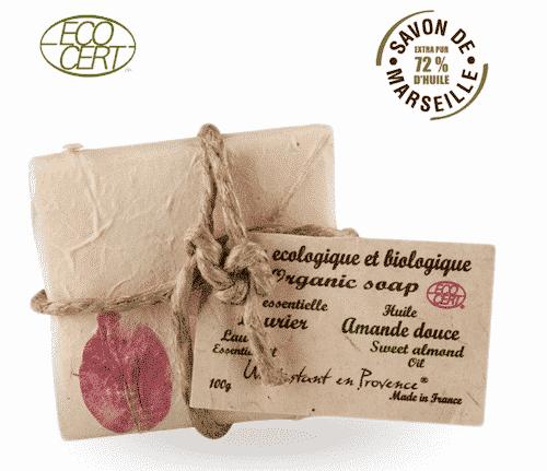 Bio Marseiller Seife - Mandelöl und Lorbeeröl - Provence & Co 100 g
