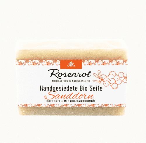 Bioseife Sanddorn - Rosenrot 90 g