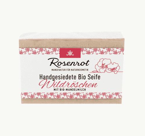 Bioseife Wildröschen - Rosenrot 90 g