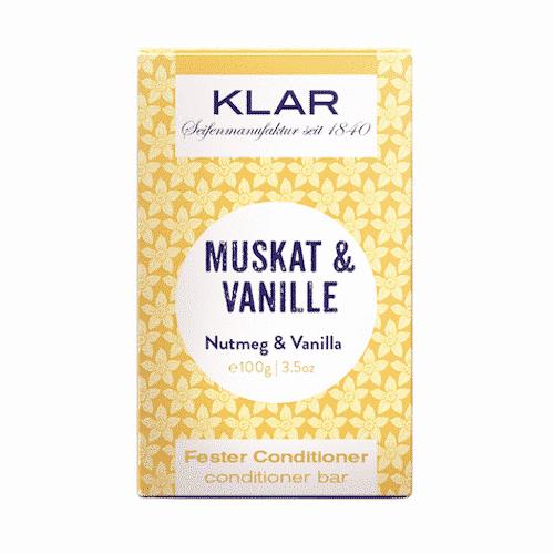Fester Conditioner - Muskat und Vanille - KLAR 100 g