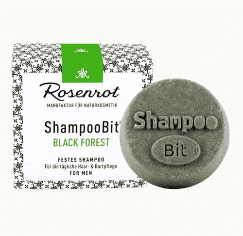 Festes Shampoo Men - Black Forest - ShampooBit - Rosenrot 55 g