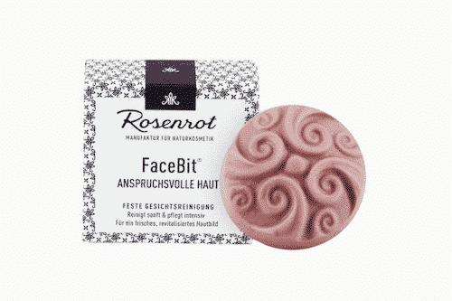Festes Waschgel - FaceBit Anspruchsvoll - Rosenrot 50 g