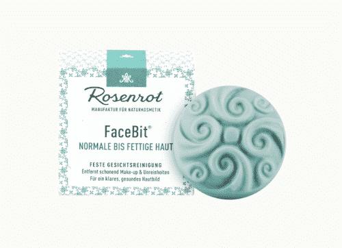 Festes Waschgel - FaceBit Normal - Rosenrot 50 g