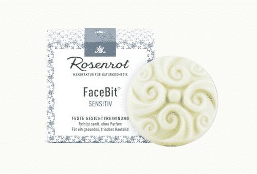 Festes Waschgel - FaceBit Sensitiv - Rosenrot 50 g