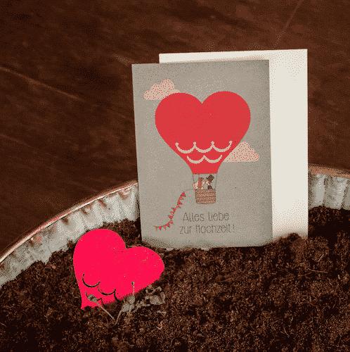 Grußkarte Alles Liebe zur Hochzeit - Die Stadtgärtner 1