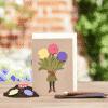 Grußkarte Blumenmädchen - Die Stadtgärtner