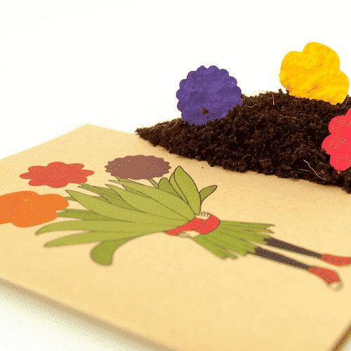 Grußkarte Blumenmädchen - Die Stadtgärtner 3