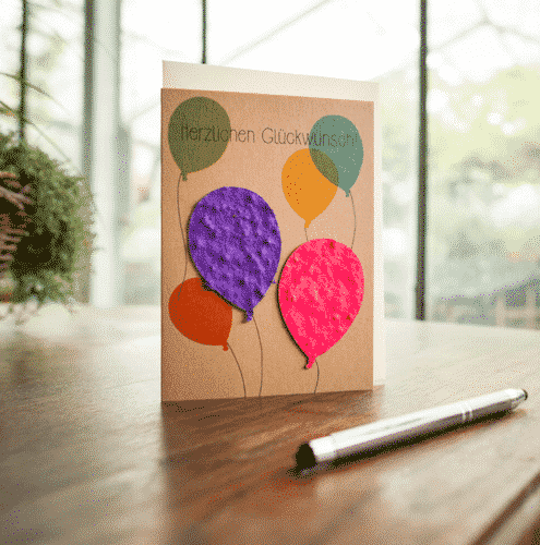 Grußkarte Herzlichen Glückwunsch - Die Stadtgärtner