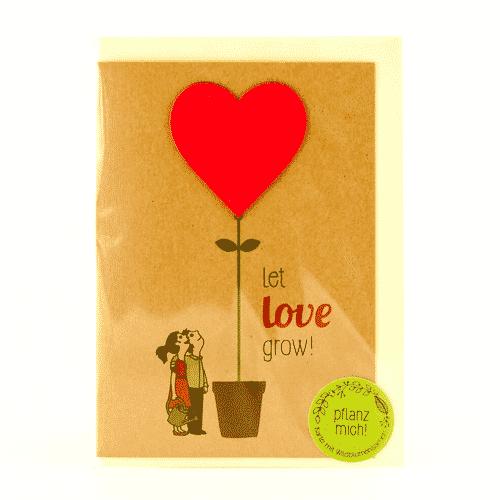 Grußkarte Let Love Grow - Die Stadtgärtner 3