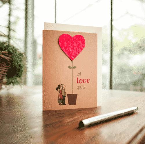 Grußkarte Let Love Grow - Die Stadtgärtner