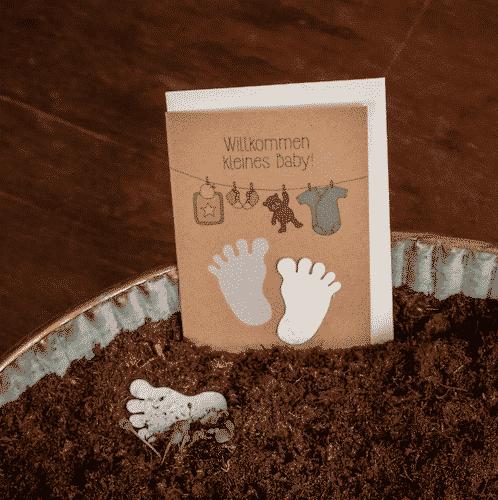 Grußkarte zur Geburt - Die Stadtgärtner