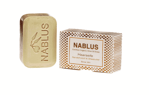 Haarseife Sandelholzöl & Sheabutter - Nablus 100 g