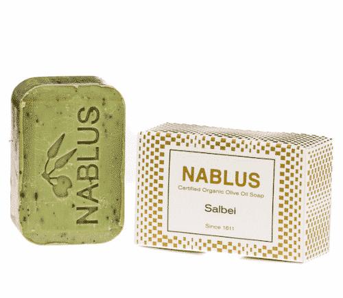 Olivenölseife mit Salbei - Nablus 100 g