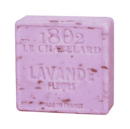 Savon de Marseille mit Lavendelblüte - Marseiller Seife 100 g