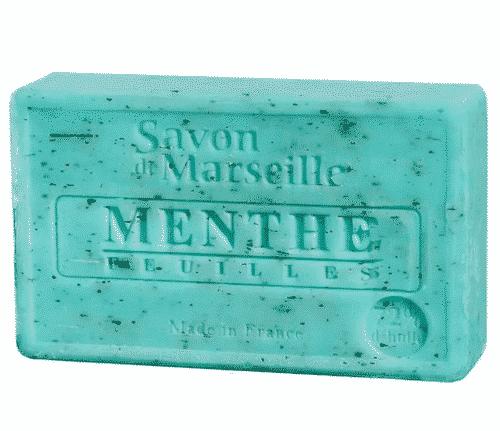 Savon de Marseille mit Minzeblättchen - Marseiller Seife 100 g
