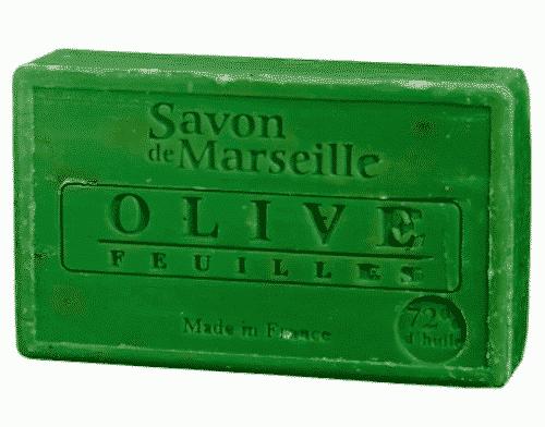 Savon de Marseille mit Olivenblatt - Marseiller Seife 100 g