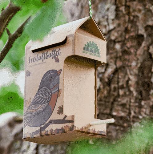 Freiluftbuffet Vögel - Die Stadtgärtner