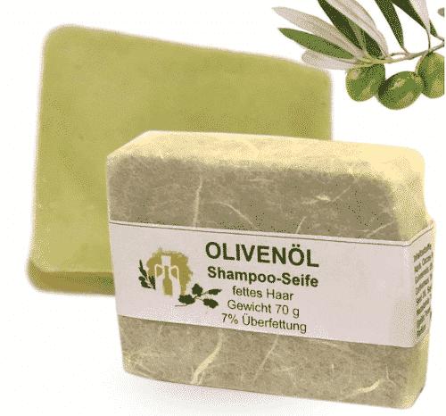 Haarseife mit Olivenöl & Macadamianuss - 1