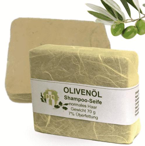 Haarseife mit Olivenöl & Pfirsichkernöl - A. Altenweg 60 g