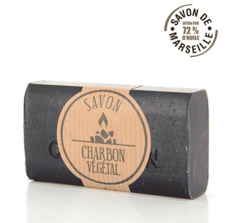 Savon de Marseille - Kohle mit Traubenkernöl - FouFour 100 g