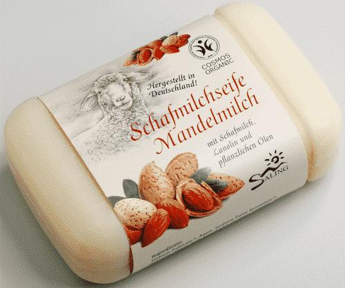 Schafmilchseife Mandelmilch - Cosmos zertifiziert - Saling 100 g
