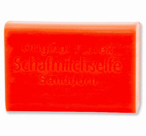 Seife mit bio Schafmilch Sanddorn - Florex 100 g