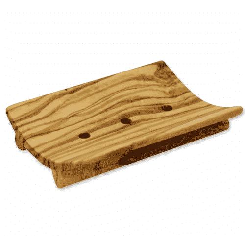 Seifenschale aus Olivenholz - eckig - Florex 11 x 7cm