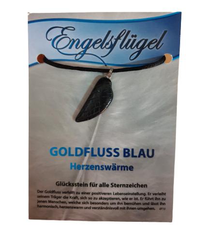 Engelsflügel Goldfluss blau - Edelstein für alle Sternzeichen